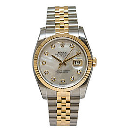 Rolex Datejust 116233 MDJ Mother of Pearl Dial Automatic Stainless Steel and 18K Yellow Gold Watch