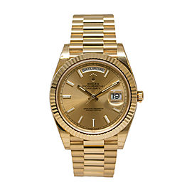 Rolex Day-Date II 228238CSP 40 Champagne Dial 18K Yellow Gold President Automatic Men's Watch