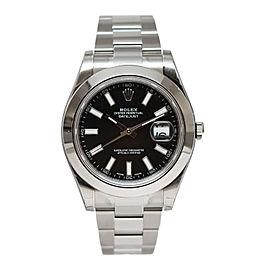 Rolex Datejust II 116300 Stainless Steel Black Index Dial 41mm Watch