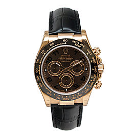Rolex Cosmograph Daytona 116515CHOAL Chocolate Dial Automatic Black Leather Men's Watch