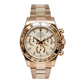 Rolex Cosmograph Daytona 116505 IVSO Ivory Dial 18K Everose Gold Rolex Oyster Automatic Men's Watch