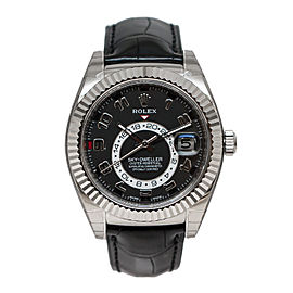 Rolex Sky-Dweller Automatic Black Dial 18kt White Gold Men's Watch