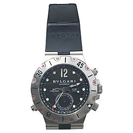 Bvlgari Diagono Pro Acqua GMT Scuba SD38S Stainless Steel 38mm Watch
