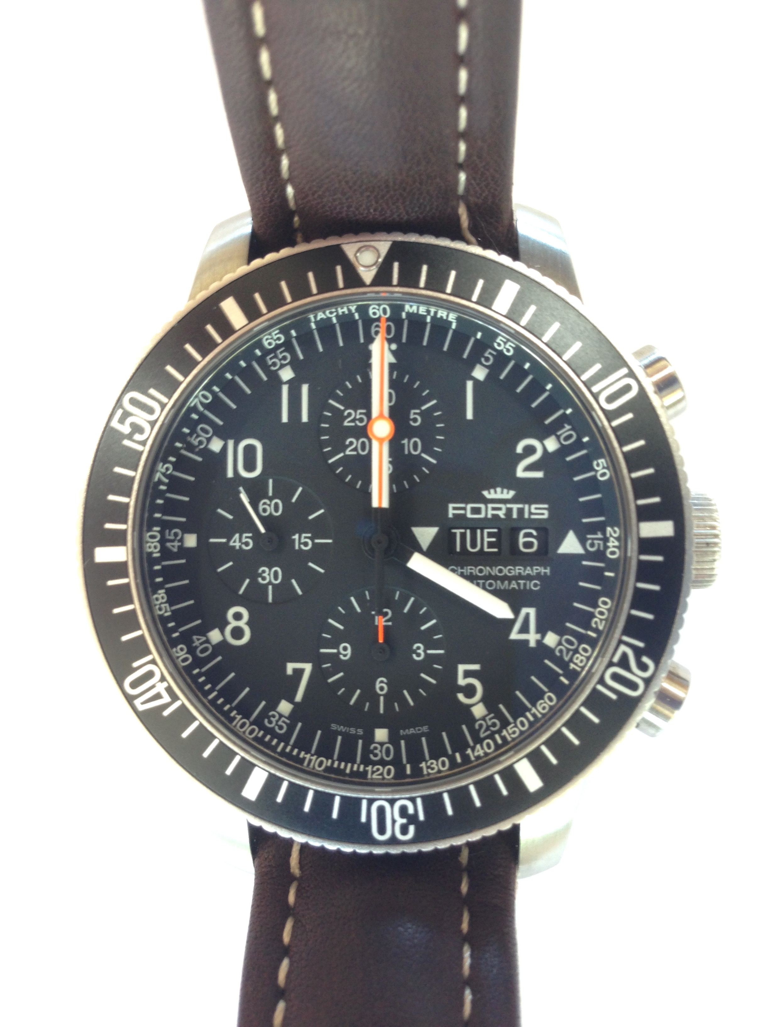 "Image of ""Fortis B-42 Cosmonauts 638.10.141.3 Stainless Steel 42mm Mens Watch"""