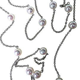 Mikimoto White Gold & Pearl Necklace
