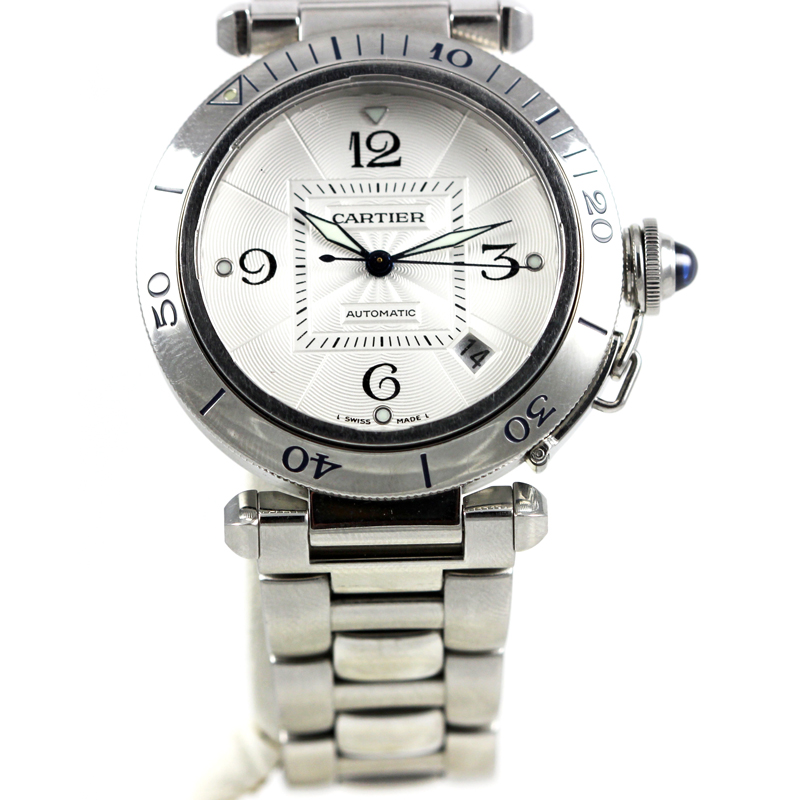 "Image of ""Cartier Pasha Stainless Steel Watch"""