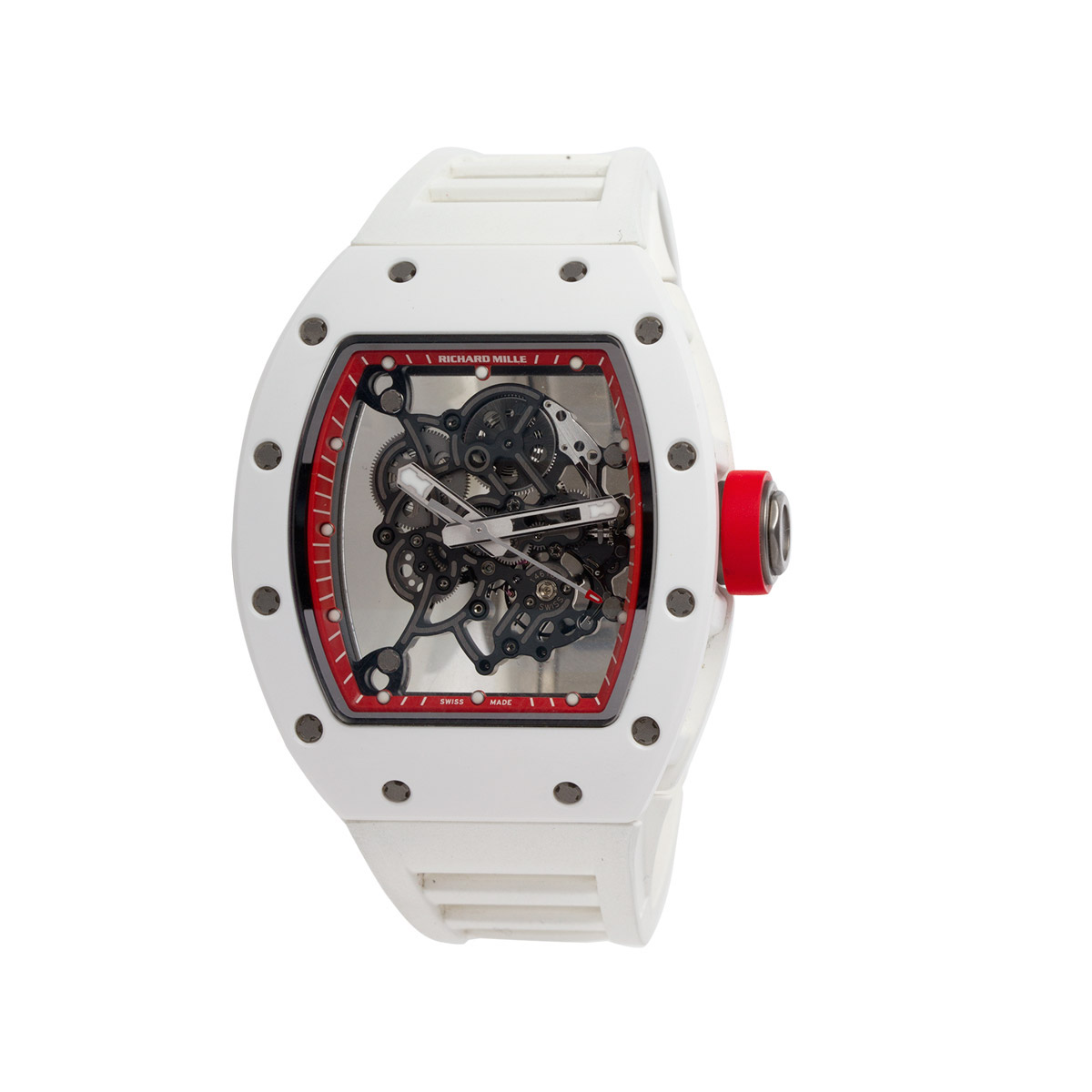 "Image of ""Richard Mille Rm55 Bubba Watson White Asia Edition Watch"""