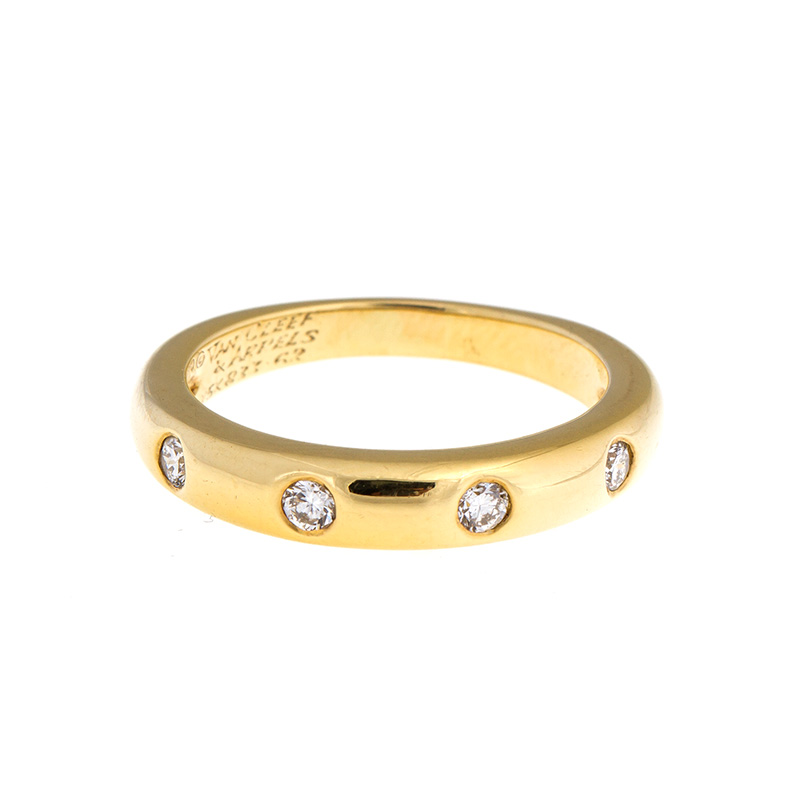 "Image of ""Van Cleef and Arpels 18k Yellow Gold Diamond Band Ring"""