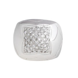 Bvlgari 18k White Gold Diamond Pyramid Set