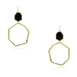 Ippolita 18K Yellow Gold & Black Onyx Earrings