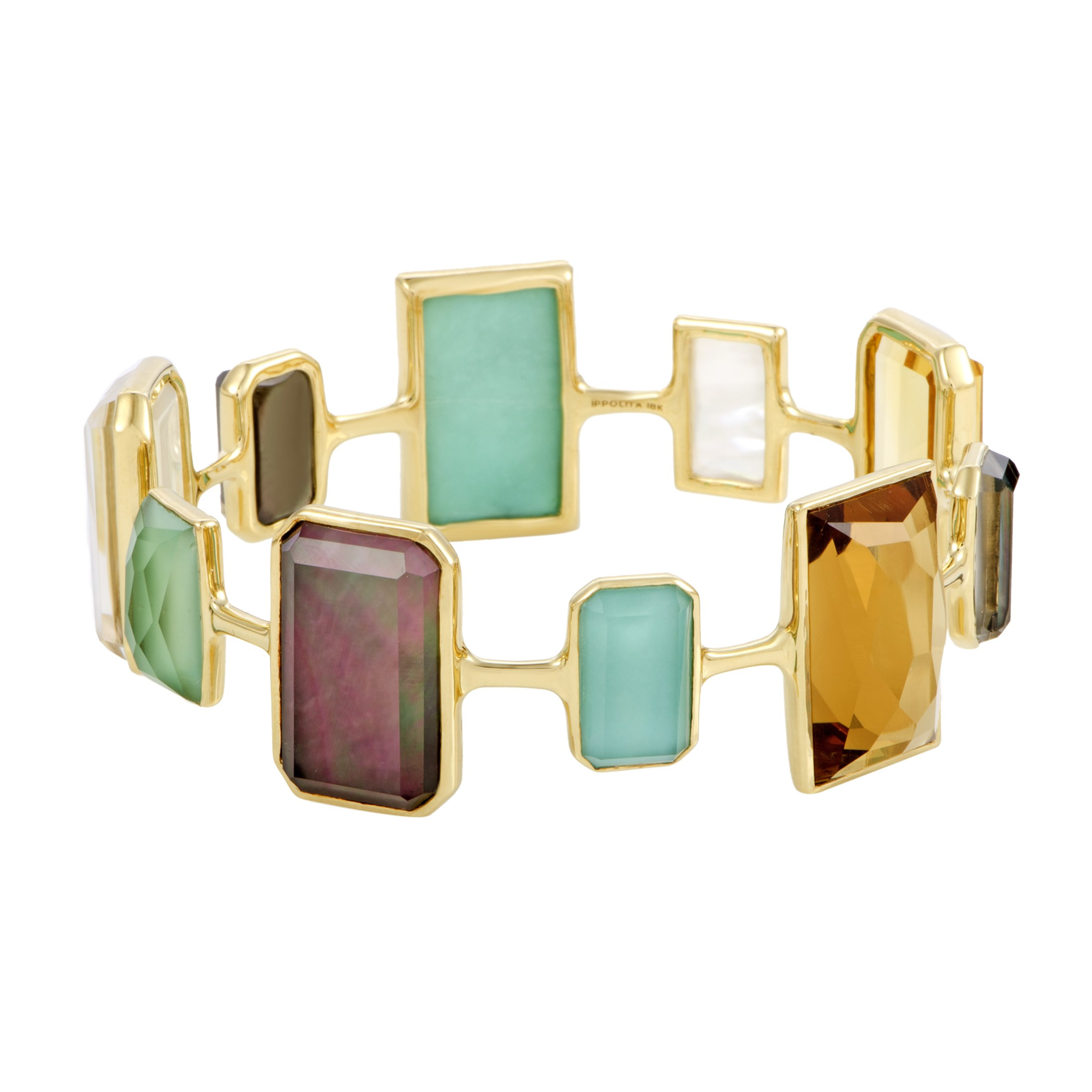 "Image of ""Ippolita Rock Candy 18K Yellow Gold with Multi-Colored Stones and"""