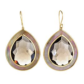 Ippolita Ondine 18K Yellow Gold Smoky Quartz and Mother of Pearl Large Teardrop Earrings