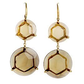 Ippolita Gemma 18K Yellow Gold Coqnac Citrine Dangle Earrings