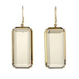 Ippolita Rock Candy 18K Yellow Gold Orange Citrine Dangle Earrings