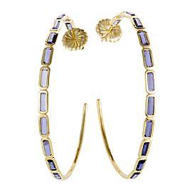 Ippolita Rock Candy 18K Yellow Gold Iolite Hoop Earrings