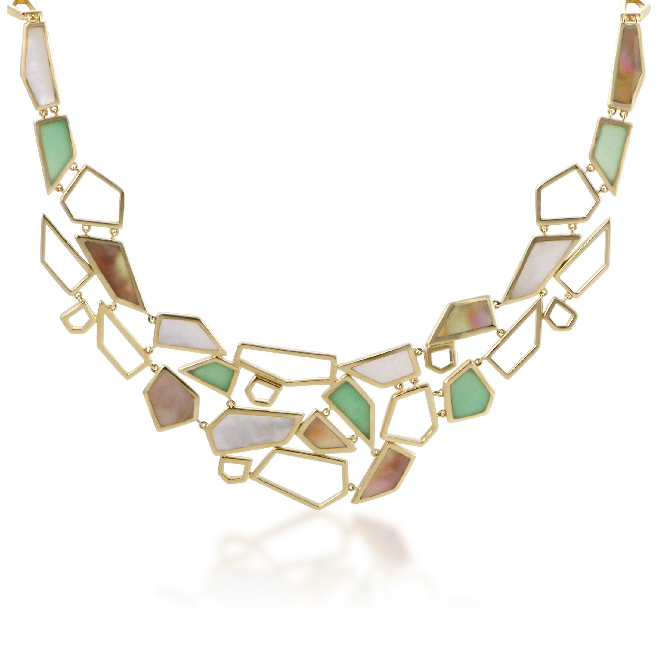 "Image of ""Ippolita 18K Yellow Gold Multi-Colored Stone Bib Necklace"""