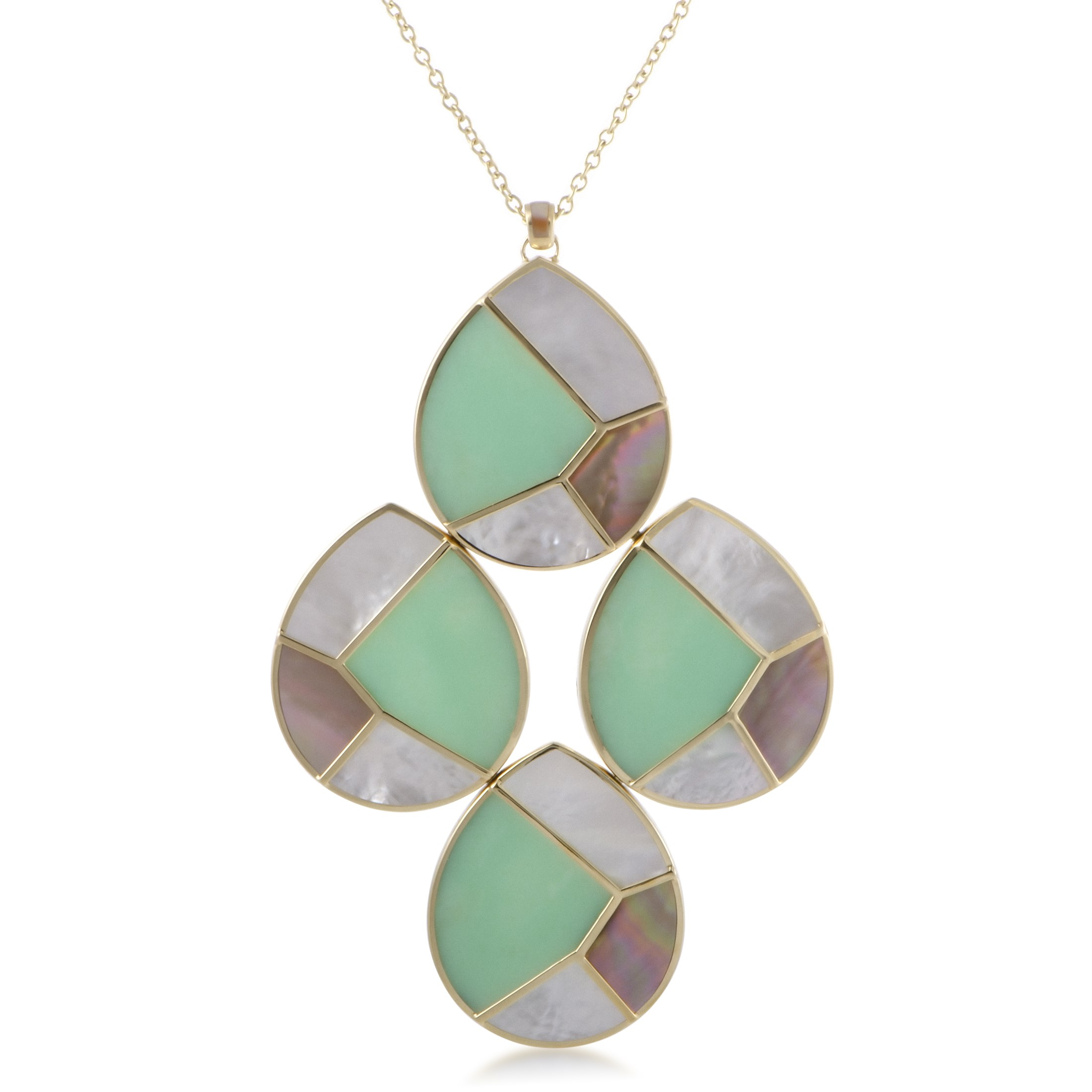 "Image of ""Ippolita 18K Yellow Gold Multi-Colored Stone Teardrop Pendant Necklace"""