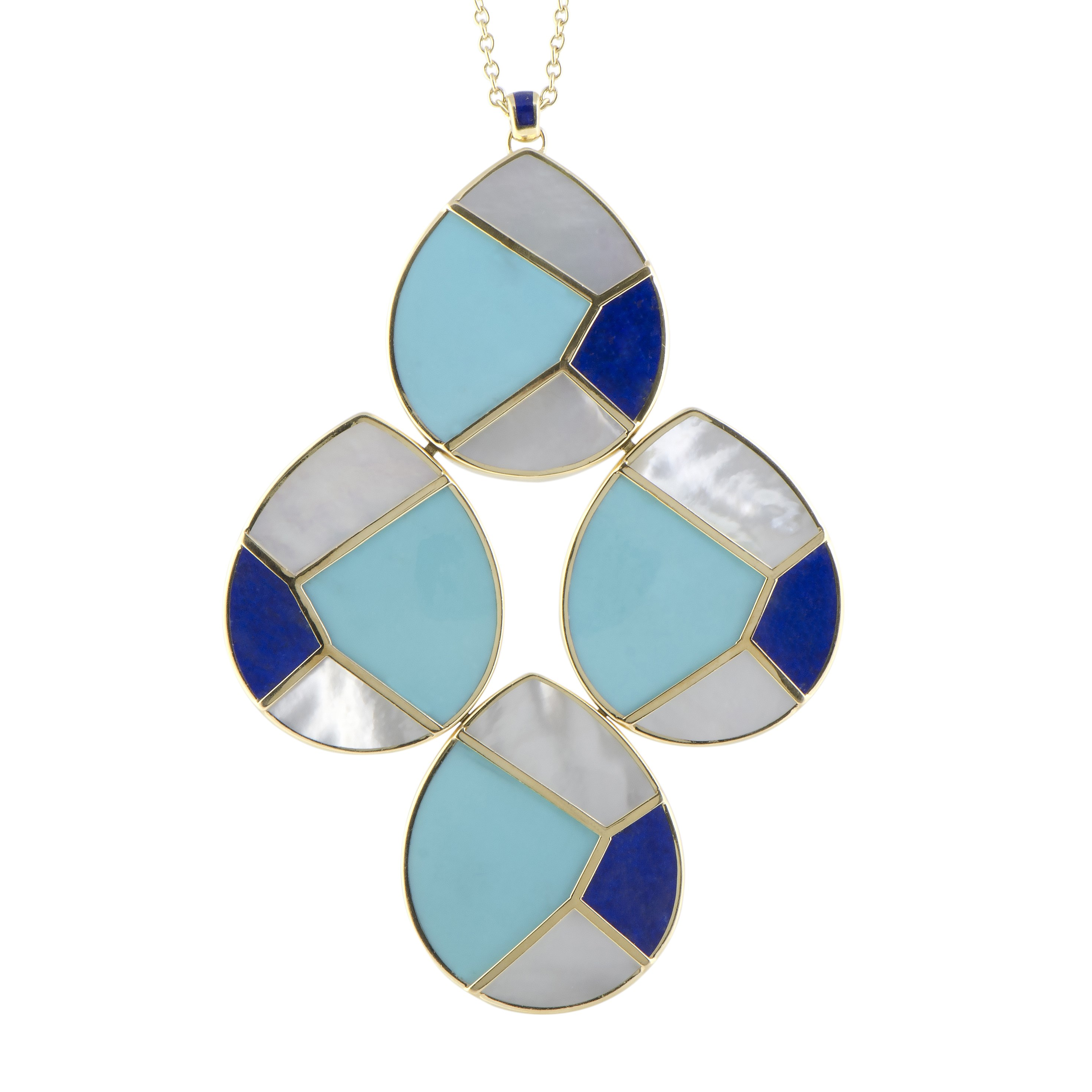 "Image of ""Ippolita 18K Yellow Gold Multi-Colored Stones Teardrop Pendant"""
