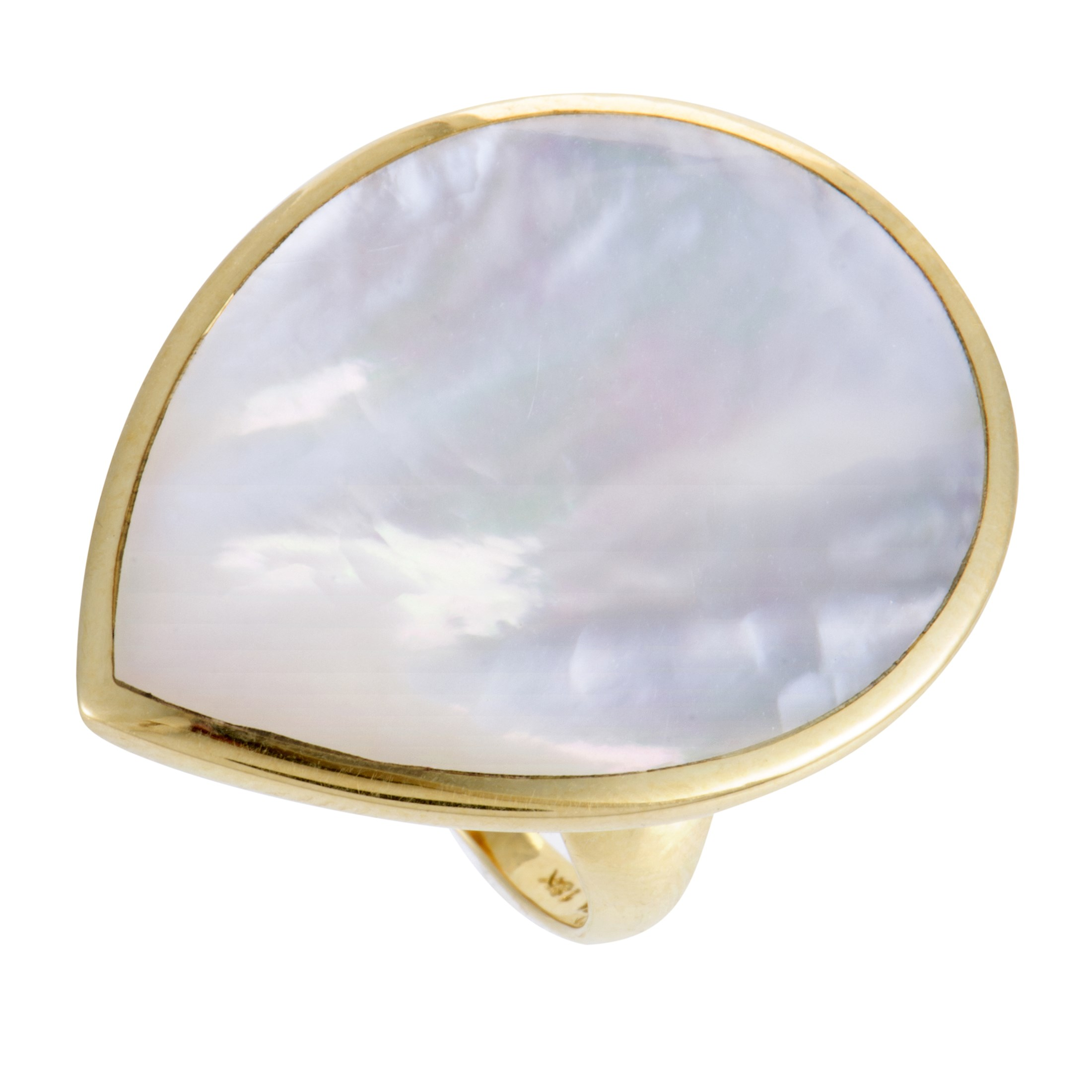 """Image of """"Ippolita Rock Candy 18K Yellow Gold Mother of Pearl Teardrop Ring"""""""