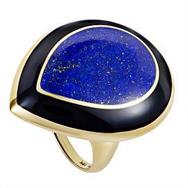 Ippolita Rock Candy 18K Yellow Gold Lapis and Onyx Teardrop Ring