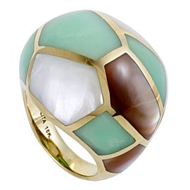Ippolita Rock Candy 18K Yellow Gold Mother of Pearl and Agate Dome Ring