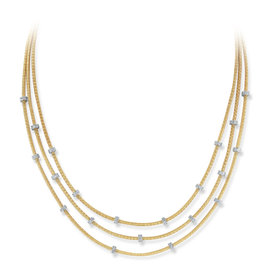 Yellow Gold Multi-strand Mesh Necklace