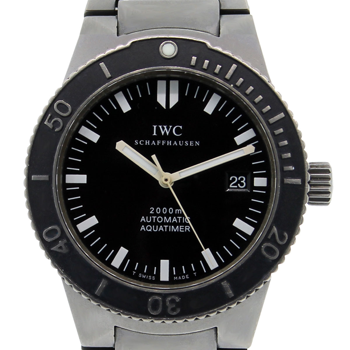 "Image of ""IWC Aquatimer 3536 Titanium Black Dial Automatic 42mm Men's Watch 2000"""
