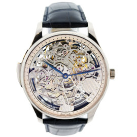 IWC 18K White Gold Portuguese Squelette Skeleton Minute Repeater Watch