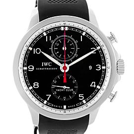 IWC Portuguese Yacht Club IW390210 Chronograph Rubber Strap 45.4mm Mens Watch
