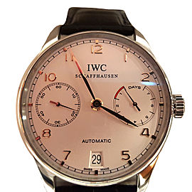 IWC Portugieser IW500704 42.3mm Automatic Black Strap Watch