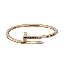 Cartier Juste Un Clou B6037717 Bracelet RG Size 17
