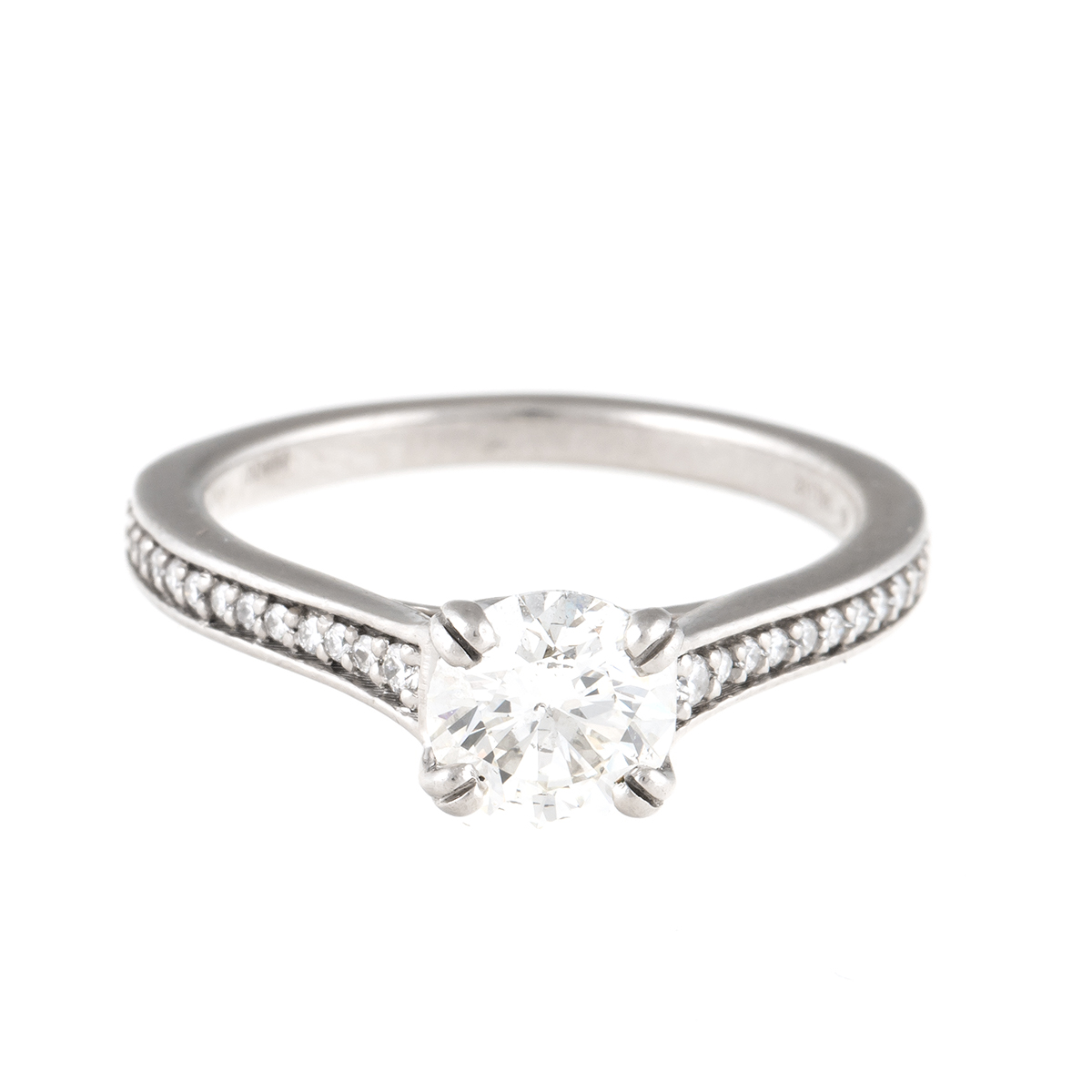 "Image of ""Ritani Platinum 0.85ct. Diamond Wedding Ring Size 5.75"""