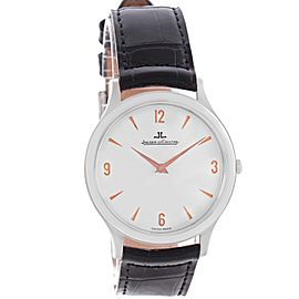 Jaeger Lecoultre Master 145.6.79 Platinum Ultra-Thin & Silver Dial 34mm Mens Watch