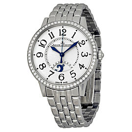 Jaeger Lecoultre Rendez-vous Silver Dial Stainless Steel Diamond Ladies Watch