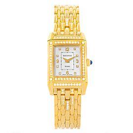 Jaeger LeCoultre Reverso 267.1.86 18K Yellow Gold & Diamond 20.5mm Womens Watch