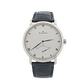 Blancpain 18K White Gold Ultra Slim Retrograde Villeret 4063-1542-55 Mens Watch