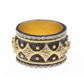 Armenta 18k Yellow Gold and Diamond Band Ring