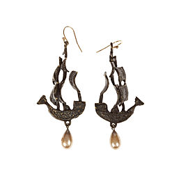 Handmade One Of a Kind Pirate Ship Earrings