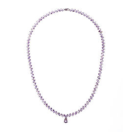 Marquise Amethyst Eternity Necklace