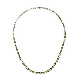 Peridot Oval Cut Eternity Necklace