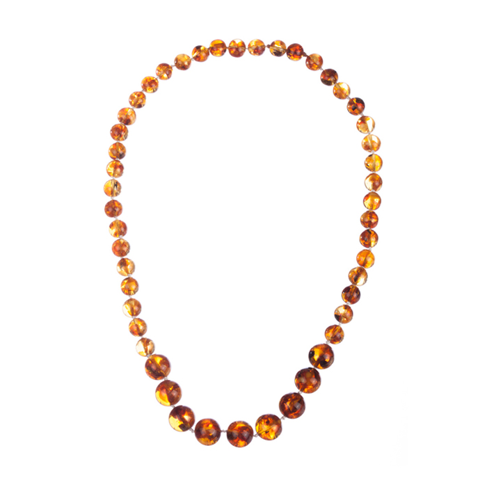 "Image of ""Baltic Amber Round Bead Necklace"""