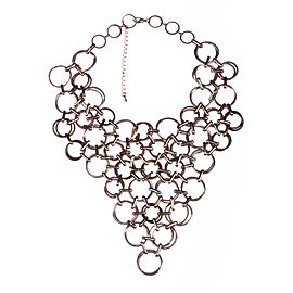 Vintage Circular Chain Link Bib Necklace