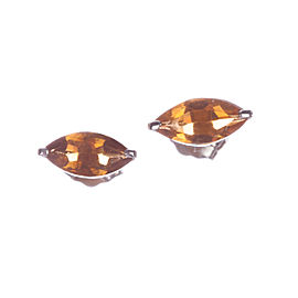 14 kt White Gold Marquise Citrine Earrings