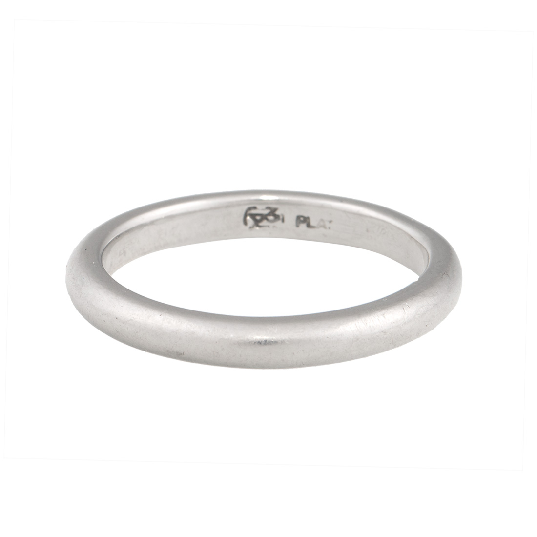 "Image of ""Blue Nile Platinum Wedding Band Ring Size 5.25"""