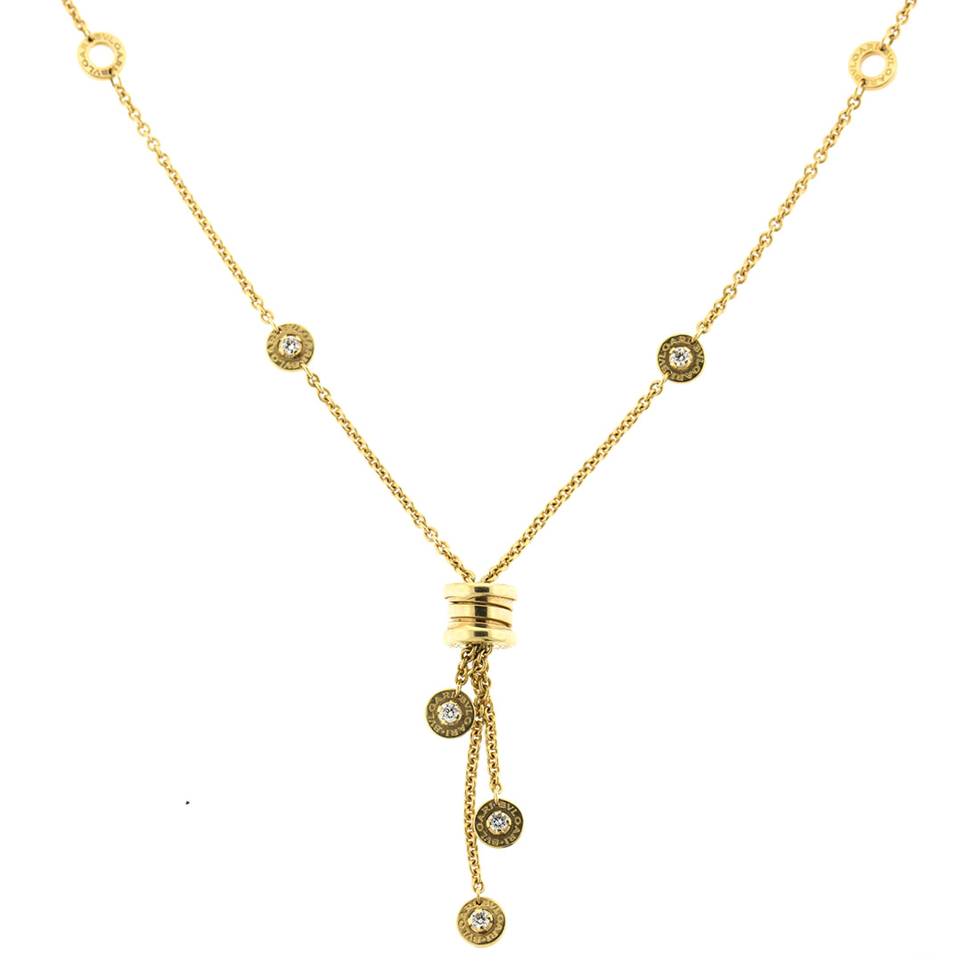 Bulgari Bzero Yellow Gold Diamond Necklace