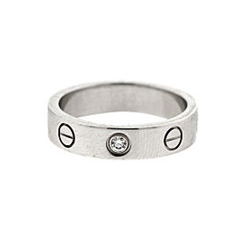 Cartier Love White Gold Mini 1 Diamond Ring