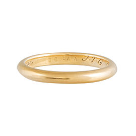 Cartier 18K Yellow Gold Wedding Band Ring Size 7.0