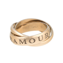 Cartier Amour et 18K Yellow Gold Trinity Rolling Ring Size 9