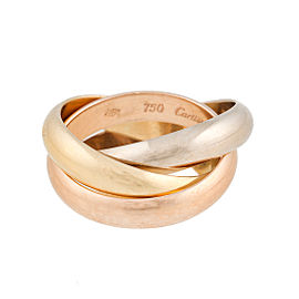 Cartier 18K Trinity Gold Ring Size 5.75