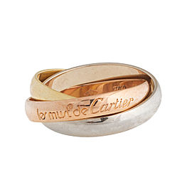 Cartier 18k Trinity Gold Ring Size 5.25